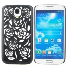 Rose Style Hollow-Out Protective Plastic Back Case for Samsung Galaxy S4 i9500 - Black