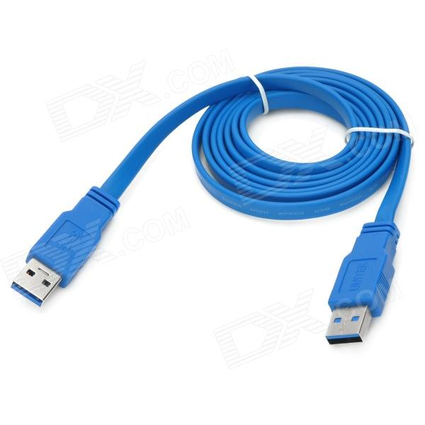 UNITEK Y-C412 USB 3.0 Type-A Male to Male Flat Connection Cable - Blue (1.5m) usb 2 0 printer scanner connection flat cable blue 145cm