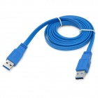 UNITEK Y-C412 USB 3.0 Type-A Male to Male Flat Connection Cable - Blue (1.5m)