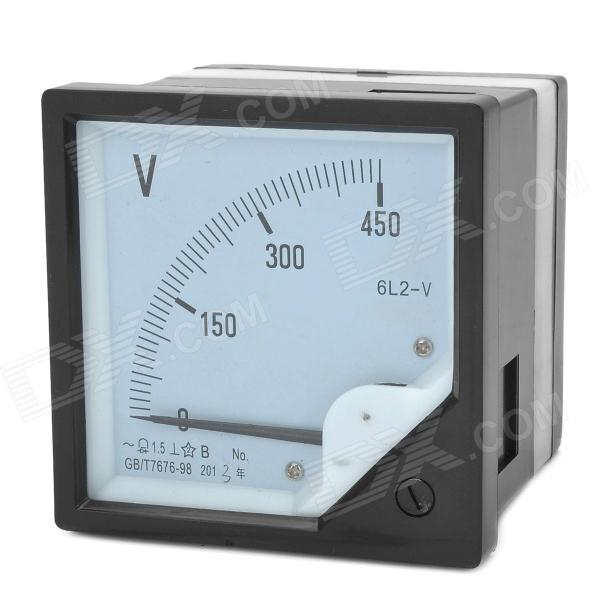 6L2-V Panel AC Voltmeter - Black + White (0~450V) 6l2 v panel ac voltmeter black white 0 450v