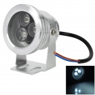 Water Resistant 9W 320lm 6500K 3 x LED Optical Plane Lens Project Lamp - Silver (12V)