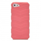 IWALK BCT001i5 Car Tire Style Silicone Anti-Slip Back Case for Iphone 5 - Pink