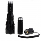 AK-96 500lm 5-Mode White Flashlight w/ Cree XM-L U2, Extension-Tube - Black (1 x 18650 / 2 x 18650)