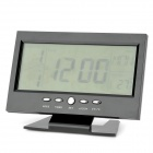 "E2XQ 8082 5.4"" LED Luminous Voice Control Backlight Desk Clock - Black (2 x AAA)"