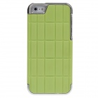 Stylish Bamboo Style Electroplating Protective PC Back Case for Iphone 5 - Green + Silver