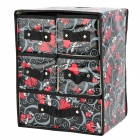 H2XSD Multi-Functional Folding Goods Management Storage Box w/ Five Drawers - Multicolored