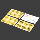 Fashion Smile Face Pattern Anti-mosquito Sticker - Yellow + White (6 PCS)