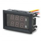 "0.28 ""3-Digital-Red LED Dual Display 12V + Shunt Voltage DC Strommessung - Schwarz"