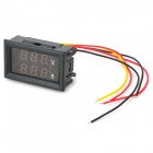 "0.28"" 3-Digital Red LED Dual Display 12V + Shunt DC Voltage Current Measurement - Black"