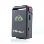 PORTWORLD TK1028B Handheld Portable Mini GSM / GPRS / GPS Car Tracker - Black