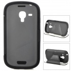 TEMEI Protective Plastic+ TPU Case w/ Cover / Stand for Samsung i8190 Galaxy S3 Mini - Black