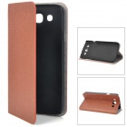 Protective PU Leather Case for Samsung Galaxy Mega 5.8 i9150 - Brown
