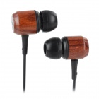 Megafeis V60 Stylish Red Sandalwood Wood Style In-Ear Stereo Earphone - Red (Length-120 CM)