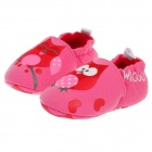 Cute Cartoon Pattern Cotton Baby Shoes - Pink + Red (0~6 Months / Pair)