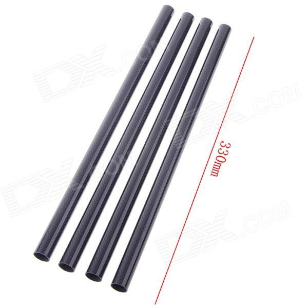3K Carbon Fiber Tubes for Quadcopter - Black (16 x 330mm / 4 PCS) carbon fiber zmr250 c250 quadcopter