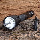 Cree XM-L T6 1000lm 5-Mode Cool White Flashlight w/ Extension-Tube - Black (1 x 18650 / 2 x 18650)