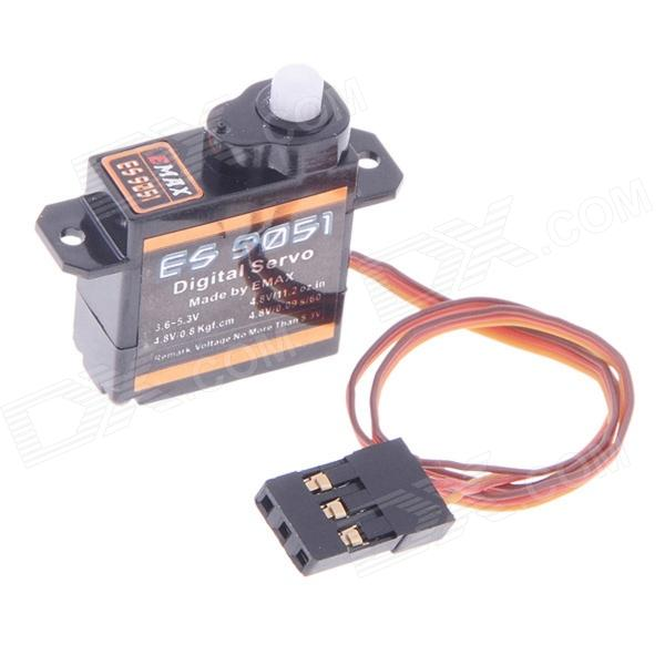 EMAX ES9051 Digital Servo - Black (4.0~5.5V)