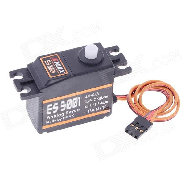 EMAX ES3001 ABS Analog Servo w/ Gears and Parts - Black (4.8~6.0V) la pastel 3 30 30