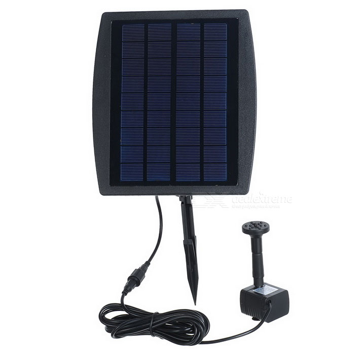 2.5W Garden Plants Watering Kit Solar Power Fountain - Black