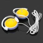 QQ Kiss Expression Ear Hook Headset - Yellow (3.5mm Plug)