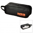 Durable Water Resisting Canvas Shoe Zipper Bag - Black