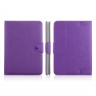 ENKAY ENK-7206 Simple Style Protective PU Leather Case Stand for Amazon Kindle Fire HD 8.9 - Purple