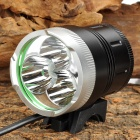 SL-2015 x2400lm 4-Mode White Bicycle Headlamp w/ Cree XM-L T6 - Black + Silver (4 x 18650)