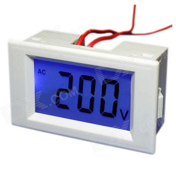 78 x 39mm LCD 3-Digital Electronic Voltmeter Tester - White (AC 80~500V)