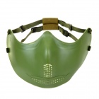 SW2009 Tactic War Game Protective ABS Half-Face Mask - Armee-Grün