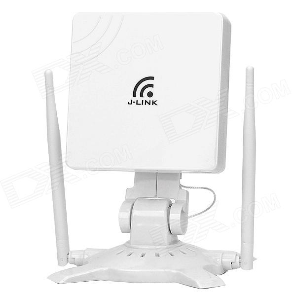 JLINK 150Mbps Wireless Wi-Fi Network Card - White + Silver linfox high power usb cmcc wireless network card white grey golden