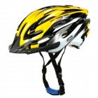 Mountainpeak PVC + EPS Outdoor Cycling Bike Helmet - Yellow + White + Black (Size L)
