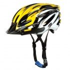Mountainpeak PVC + EPS Outdoor Cycling Bike Helmet - Yellow + White + Black (Size M)