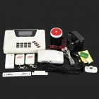 "JD-889 G4 2.6"" LCD Auto-Dial GSM / PNTS Alarm System w/ IR Detector - Black + White"