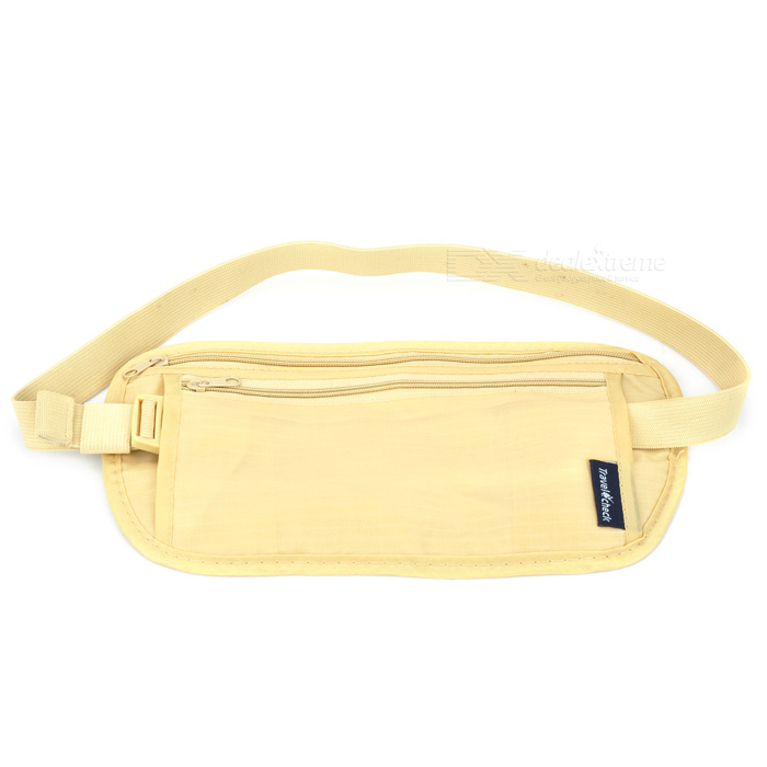 Ultra Light Travel Water Resisting Anti-theft Nylon Waist Bag - Khaki
