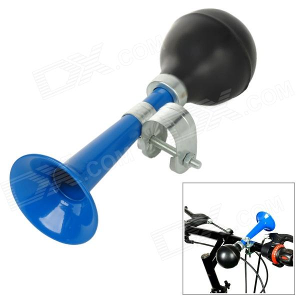 Classic Squeeze Air Bag Horn Trumpet for Bicycle - Blue + Black traditional squeeze bulb horn trumpet for bike