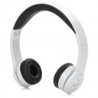 iLeAD IX-3011 Fashion Sport Stereo Bluetooth V3.0 Headphone w/ Microphone - White + Black