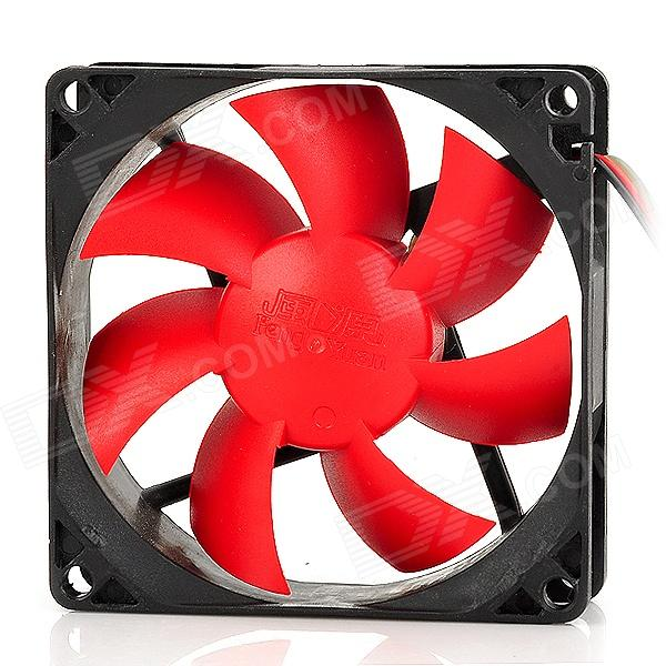 FengYuan Cooler 11DB Hydraulic Bearing 1400RPM Cooling Gear for Desktop Computer - Black + Red вентилятор aerocool ds 14см red красная подсветка 3 4 pin 64 8 cfm 1000 rpm 14 2 dba при 12v и 39 8 cfm 700 rpm 10 8 dba при 7v