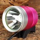 LetterFire LF-12 400lm 3-Mode White Bike Headlamp w/ Cree XM-L T6 - Deep Pink + Silver (4 x 18650)