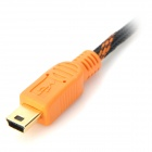 PROJECT DESIGN 26AWG Mini USB Male to USB 2.0 Male Charging Cable for PS3 - Black + Orange (3m)