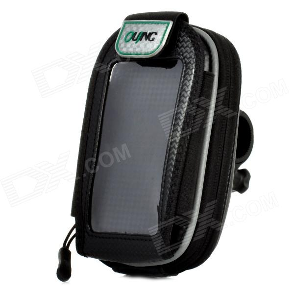 HB-58 Universal Bicycle Handlebar Cellphone Bag w/ Touch Screen Window - Black