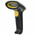 2.4GHz Wireless Handheld Barcode Laser Scanner - Black + Yellow