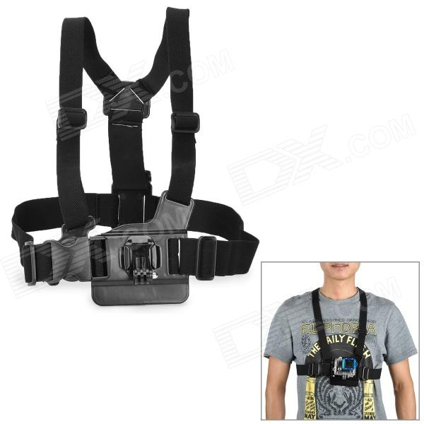 Miniisw M-C 1 Elastic Chest Belt w/ J-shape Fast Assemble Plug for Gopro Hero 1/2/3/3+/SJ4000