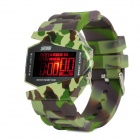 SKMEI 0982A Men's Fashionable Waterproof Alloy Digital Wrist Watch - Camouflage