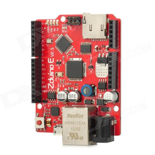 OPENJUMPER OJ-KZ008 Zduino Ethernet (5100) Module Works with Official Arduino Ethernet - Red + Black ssk scrm 060 multi in one usb 2 0 card reader for sd ms micro sd tf white