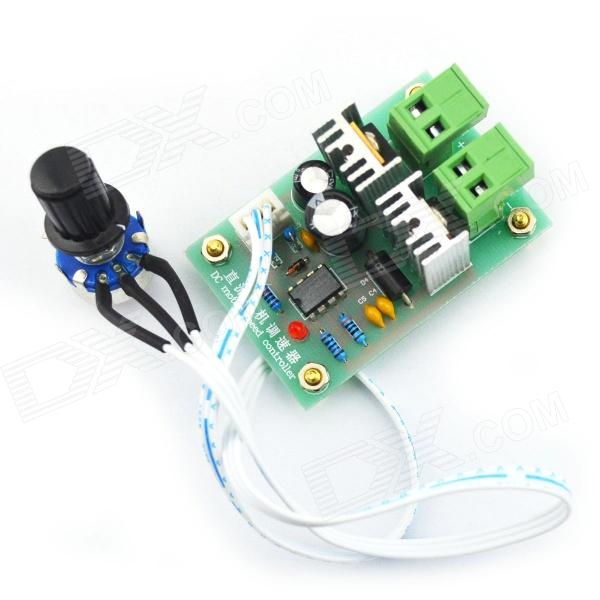 PWM DC Converter Motor Speed Controller Switch - Green (12V~36V / 10A) large torque dc 12v 40v pwm motor speed controller reversible control switch