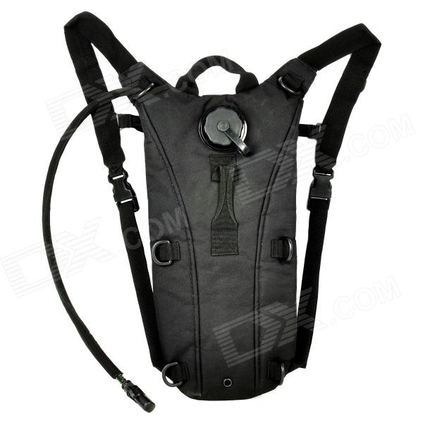 CORDURA Fashion Outdoor Oxford Fabric Survival Water Bag Backpack w/ Drinking Tube - Black (2.5L) factors contributing to improved drinking water source management