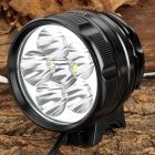 LetterFire LF-60 6 x CREE XM-L T6 1800lm 3-Mode White Bicycle Headlamp - Black (4 x 18650)