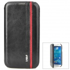 IPSKY Stylish Protective PU Leather Case for Samsung Galaxy S4 i9500 - Black + Red