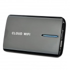 V-A8 3G Router / WLAN Router / Network Storage / Repeater + 4000mAh bewegliche Energien-Bank - Schwarz