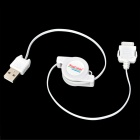 Retractable USB 2.0 to Foma 10-Pin Charging Cable for Foma Cell Phones - White